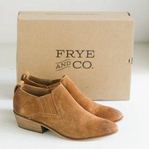 Frye Brown Suede Factory Distressed Suede Bootie